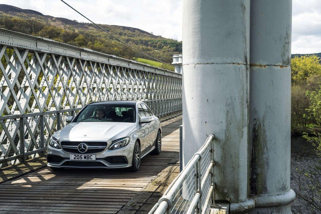 Mercedes AMG C63-S UK-spec W205 2015 cars sedan  wallpaper