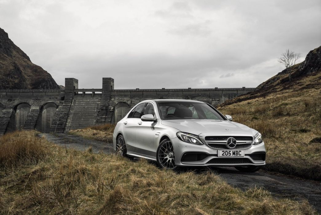 Mercedes AMG C63-S UK-spec W205 2015 cars sedan  wallpaper