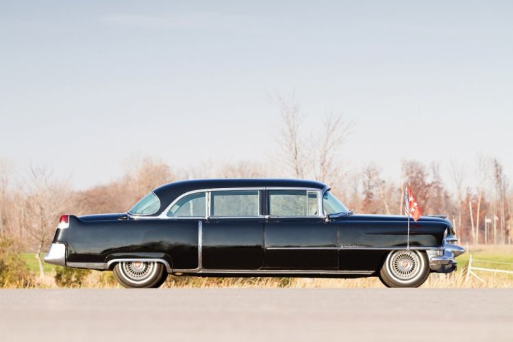 1955 Cadillac Fleetwood Seventy-Five black Presidential Limousine cars classic wallpaper
