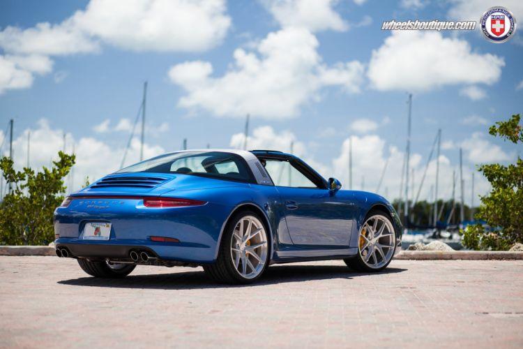 Porsche 991 Targa 4 Hre Wheels Cars Blue Tuning Wallpaper