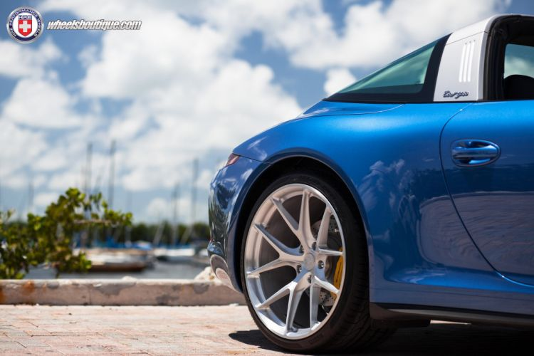 Porsche 991 Targa-4 HRE wheels cars blue tuning wallpaper