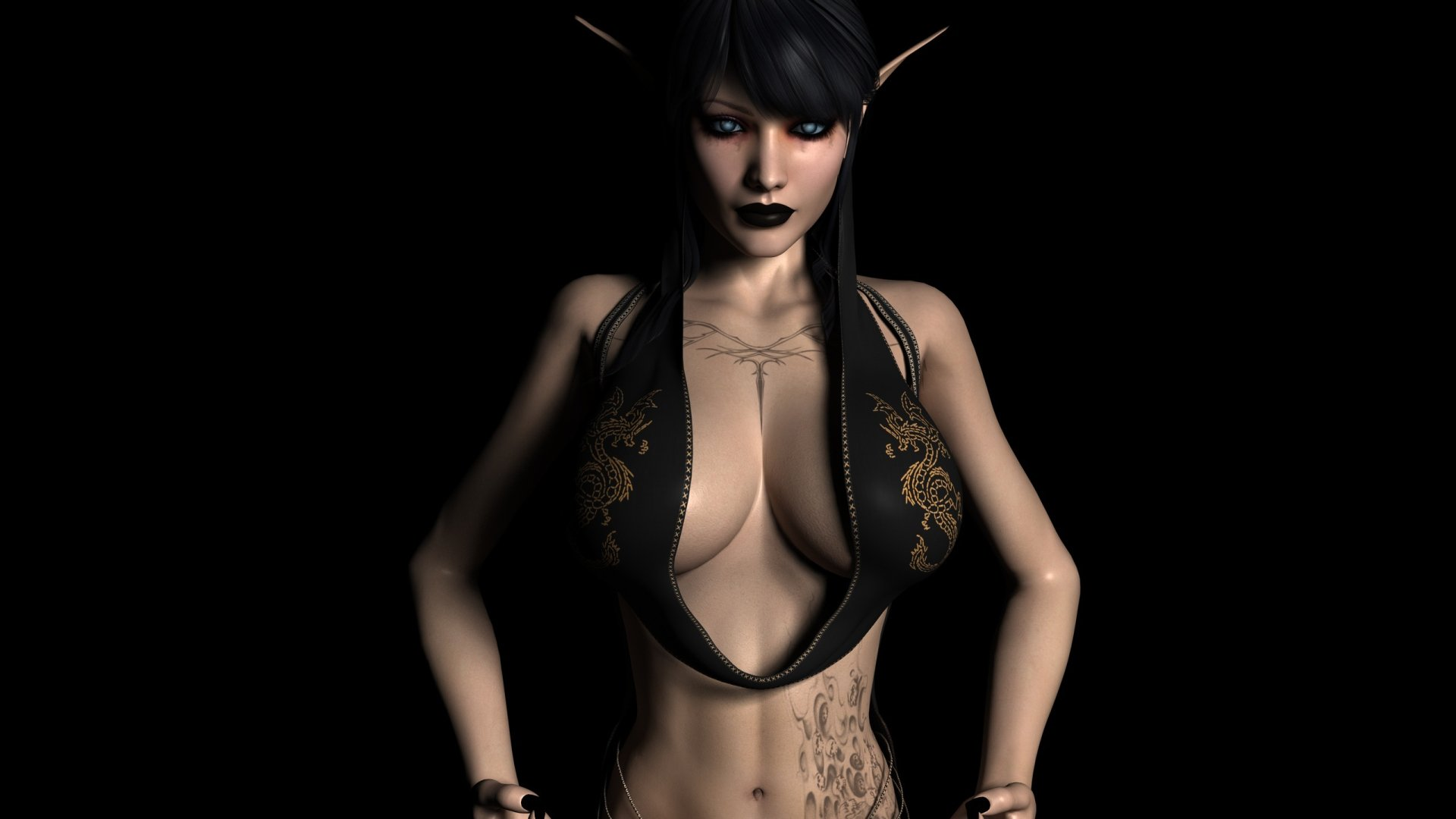 Nacked 3d girls with monsters sexual video