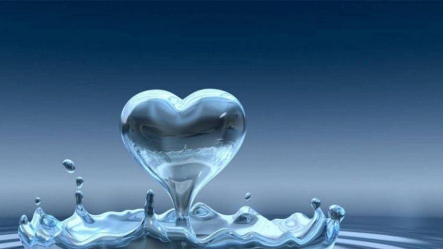 water heart wallpaper