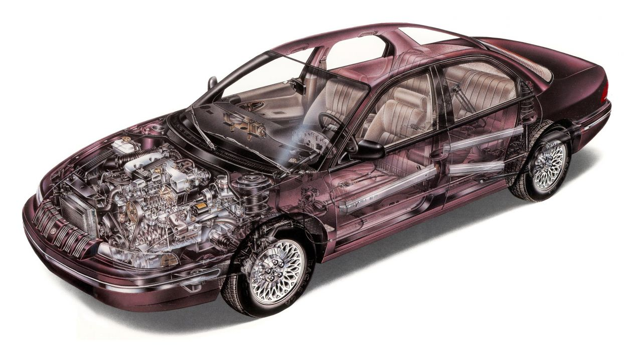 1997 Chrysler Concorde CARS technical cutaway wallpaper