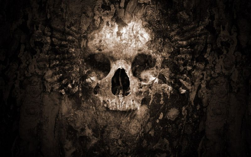 dark skull evil horror skulls art artwork skeleton d wallpaper