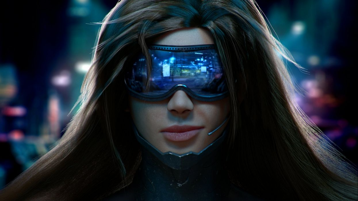 CYBERPUNK 2077 sci-fi futuristic action fighting rpg shooter cyborg robot f wallpaper