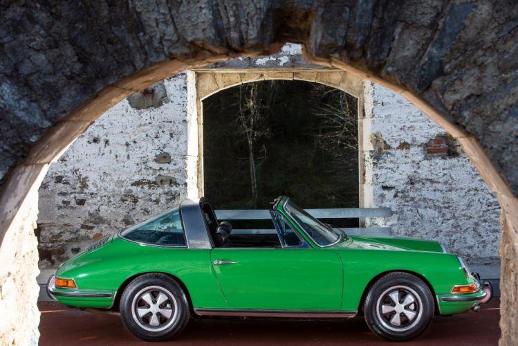 Porsche 911-S 2 0l Targa 901 1966 classic cars green wallpaper
