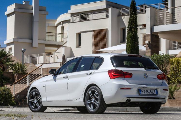 BMW 116d Sport Line 5-door F20 2015 cars white wallpaper