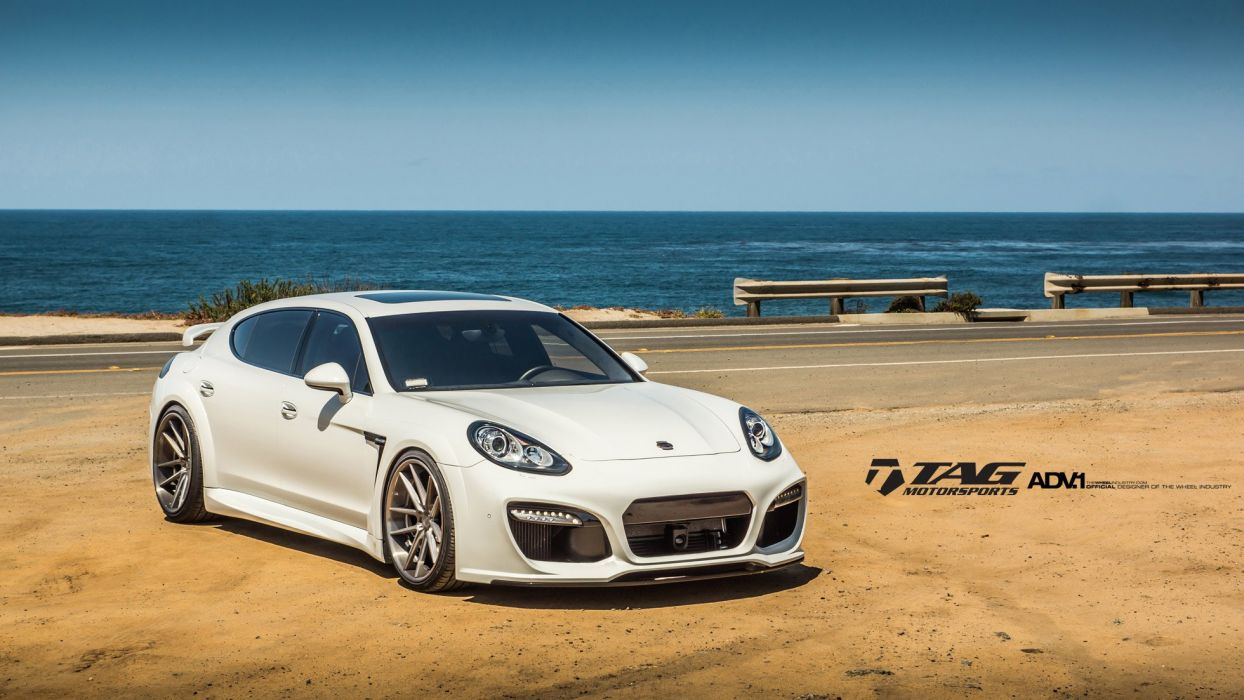 ADV 1 WHEELS GALLERY PORSCHE panamera bodykit white cars tuning wallpaper