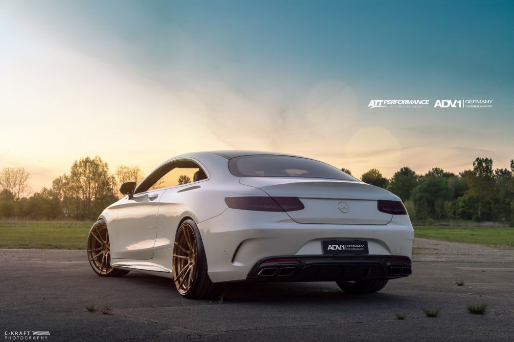 MERCEDES S63 AMG coupe white tuning ADV 1 WHEELS wallpaper