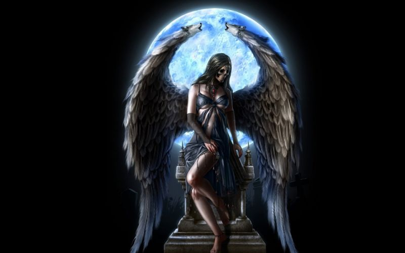 dark fantasy angel art artwork evil f wallpaper