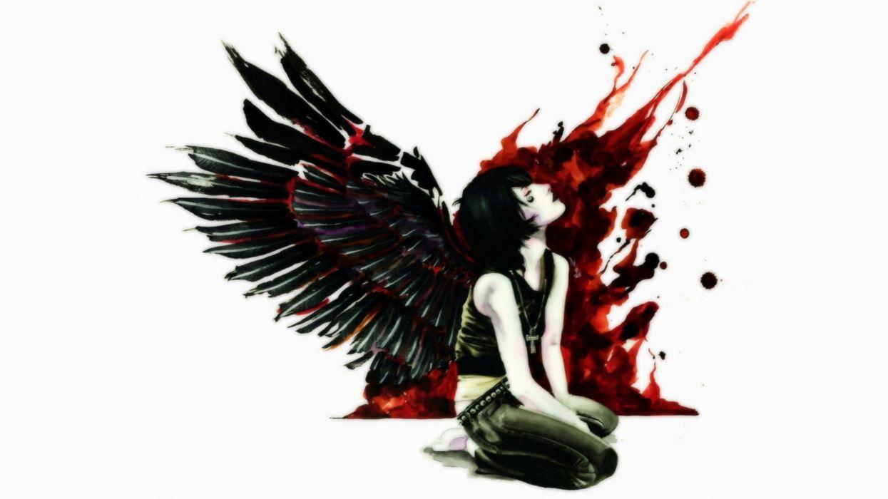 dark fantasy angel art artwork evil fantasy d wallpaper