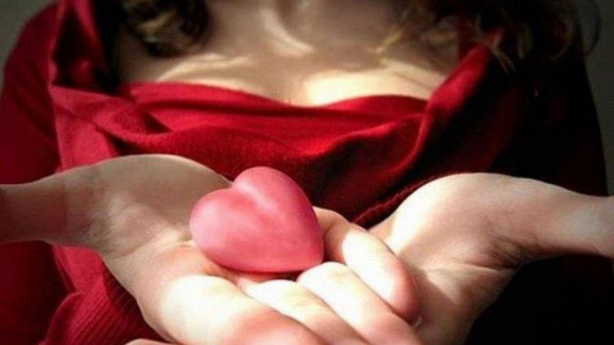 HANDS - heart red wallpaper