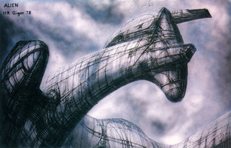 H R GIGER art artwork dark evil artistic horror fantasy sci-fi worm monster creature dune wallpaper