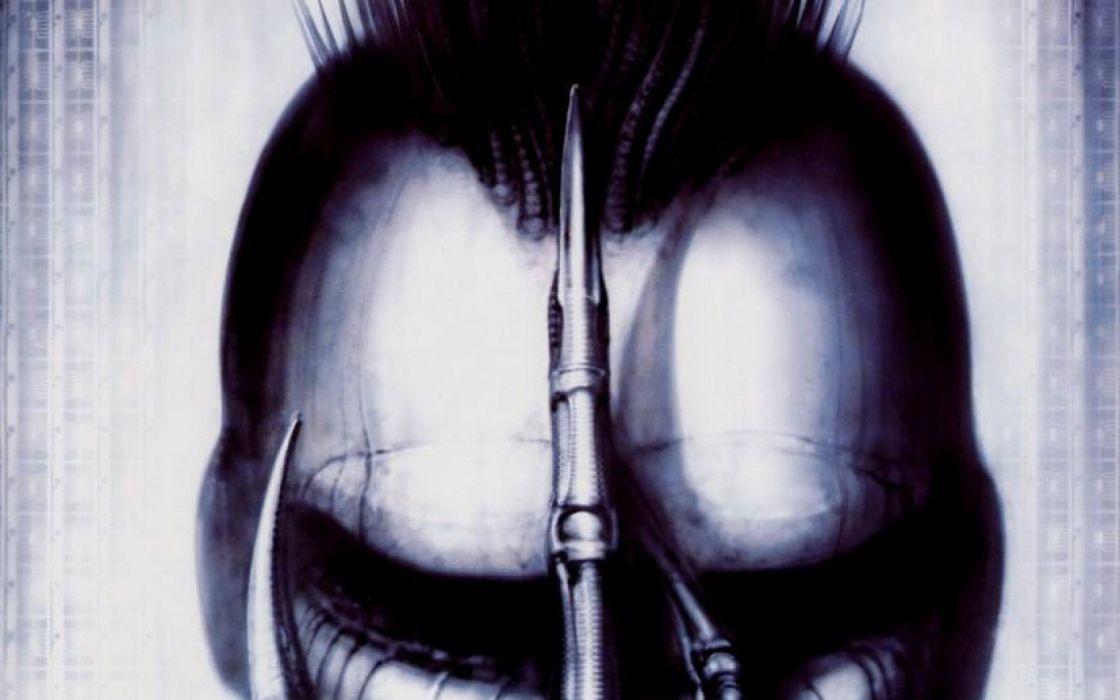 H R GIGER art artwork dark evil artistic horror fantasy sci-fi alien aliens xenomorph wallpaper