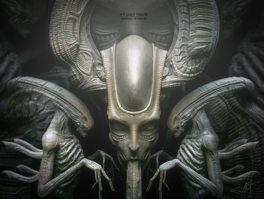 Movies science fiction aliens ridley scott h.r. giger wallpaper