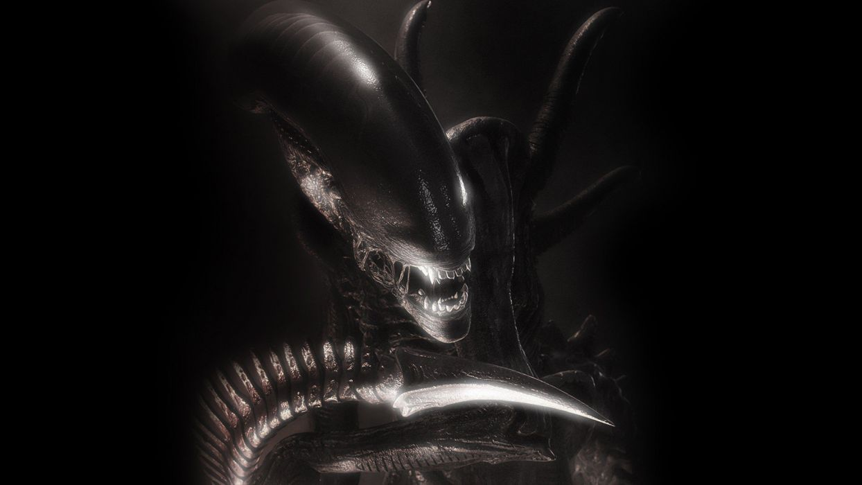 H R GIGER art artwork dark evil artistic horror fantasy sci-fi alien aliens xenomorph wallpaper