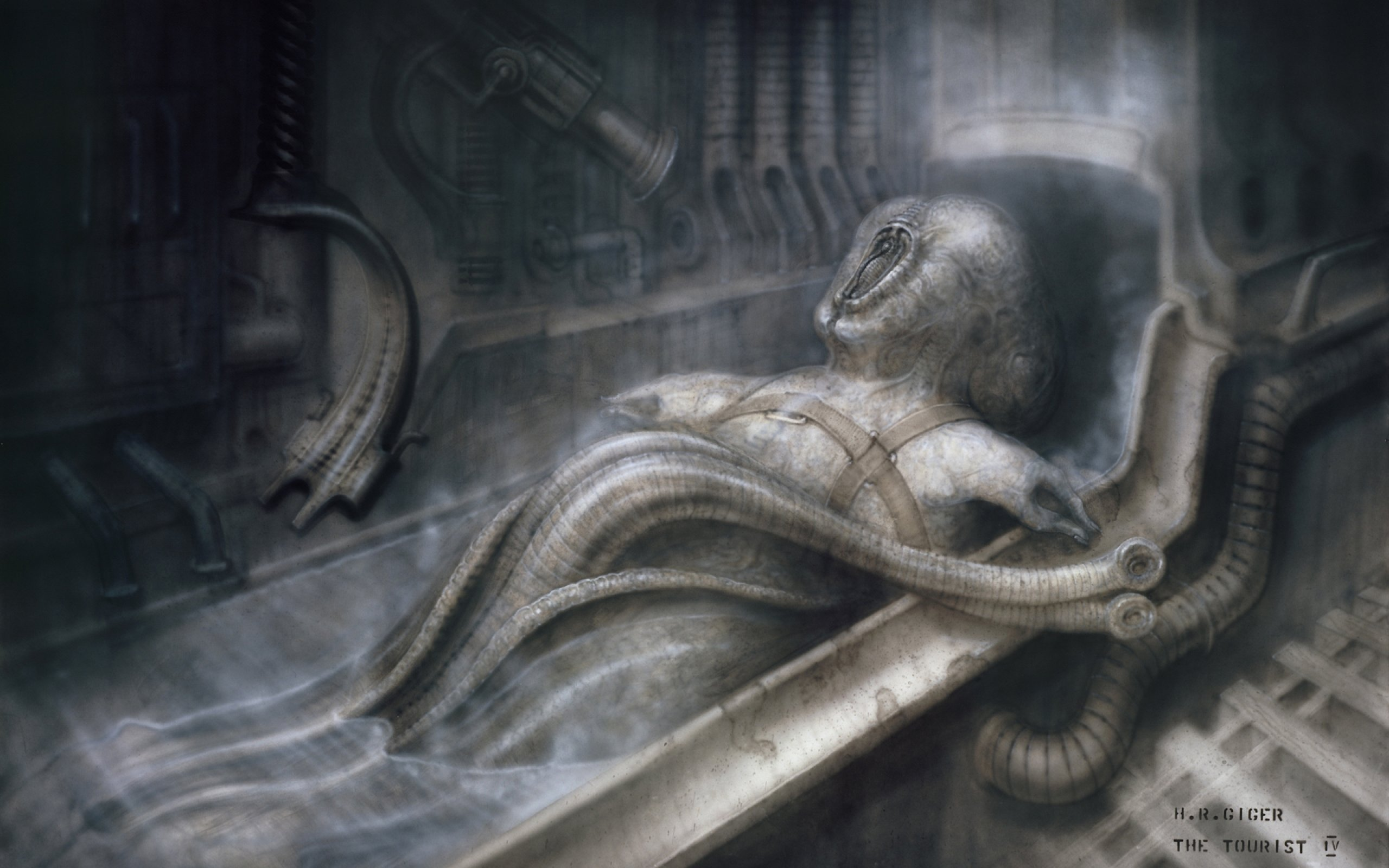 H R GIGER art artwork dark evil artistic horror fantasy ...