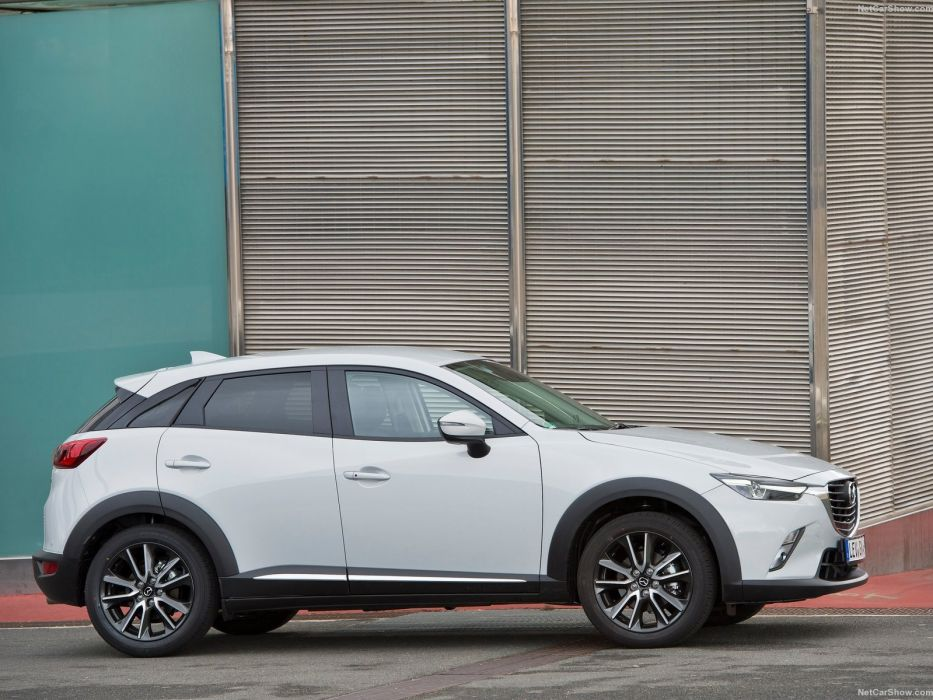 2016 cars CX-3 Mazda suv white wallpaper