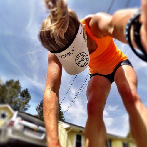 SPORTS - girl women blonde crossfit exercise training cap wallpaper