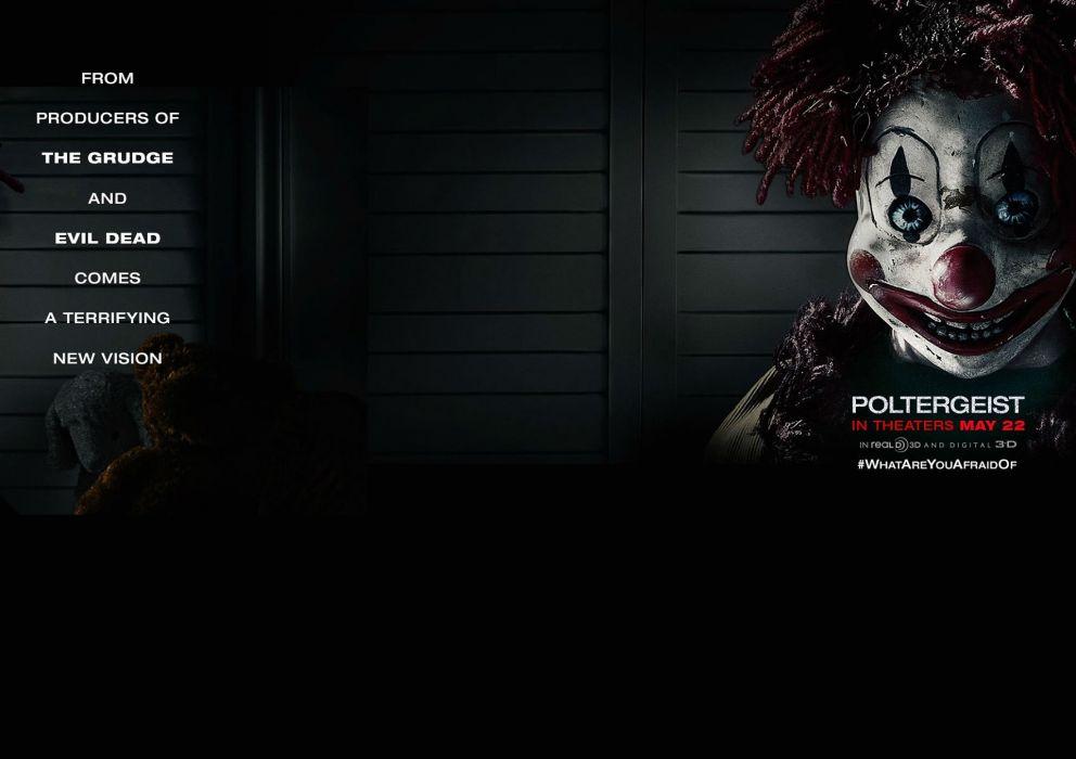 Poltergeist Horror Dark Thriller Scary Creepy Evil Poster Clown