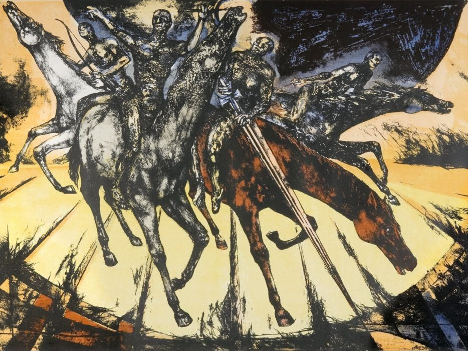dark evil occult satanic satan demon horsemen religion wallpaper