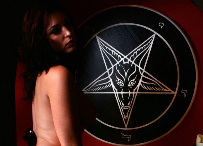 dark evil occult satanic satan demon sexy babe wallpaper