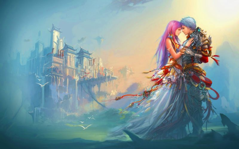 fantasy couple love wallpaper