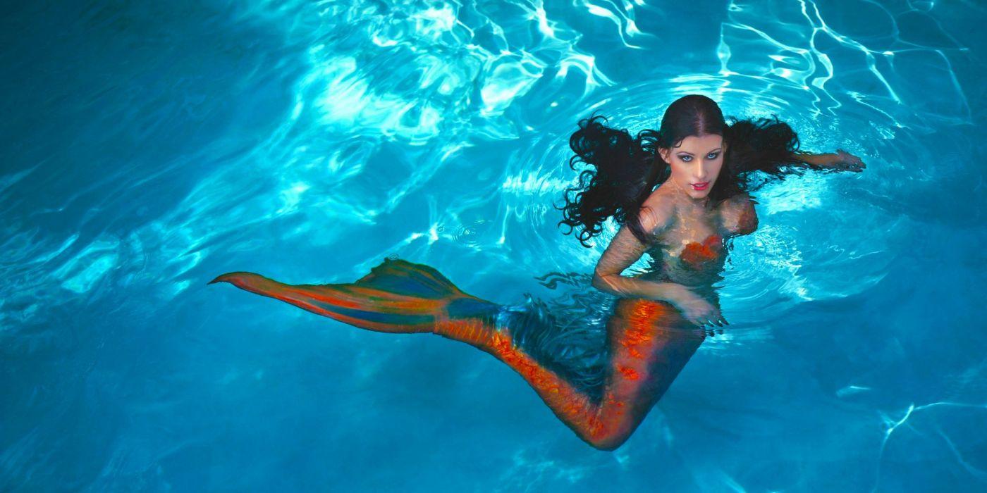 mermaid beautiful fantasy long hair wallpaper