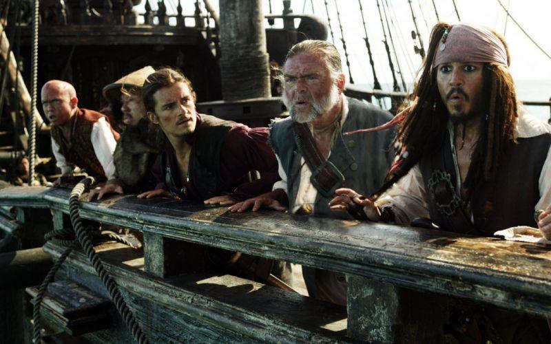 Pirates of the Caribbean Jack Sparrow Orlando Bloom wallpaper