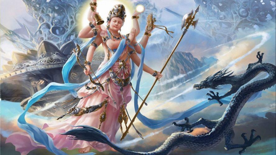 GODS fantasy warrior art artwork wallpaper