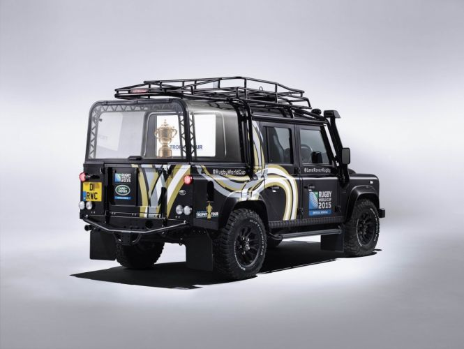 Land Rover Defender 110 Rugby World Cup cars all road 4x4 2015 wallpaper