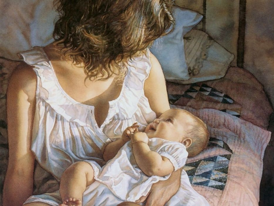 art artwork women woman girl girls fantasy artistic baby mother wallpaper