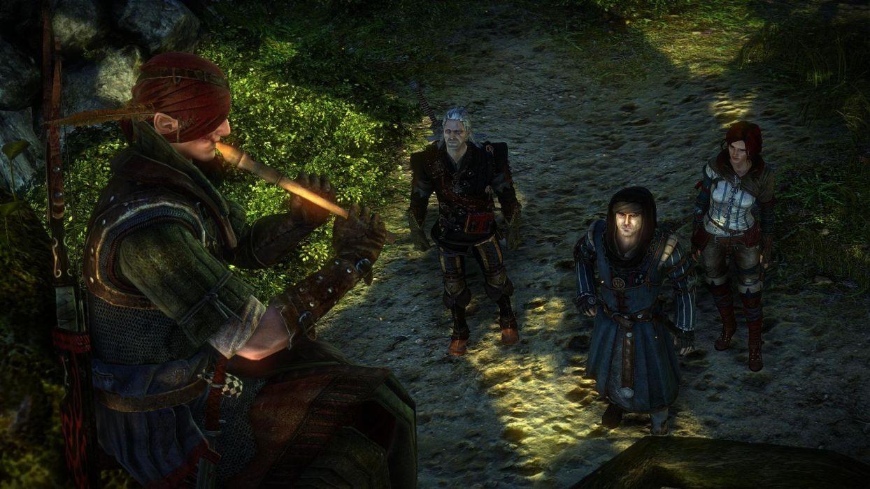 The Witcher 2 Assassins of Kings Iorweth Geralt Triss Merigold Vernon Roche Flute wallpaper