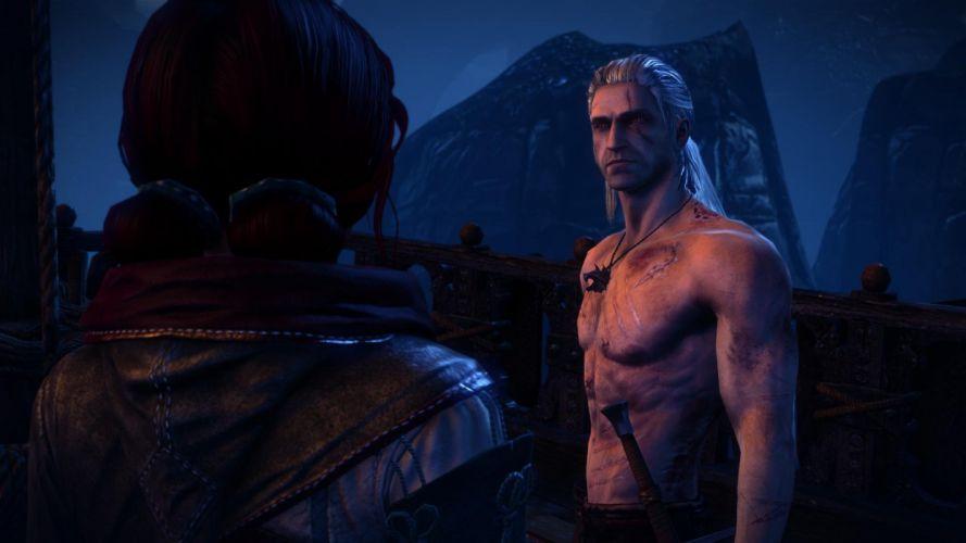The Witcher 2 Assassins of Kings Geralt Triss Merigold wallpaper