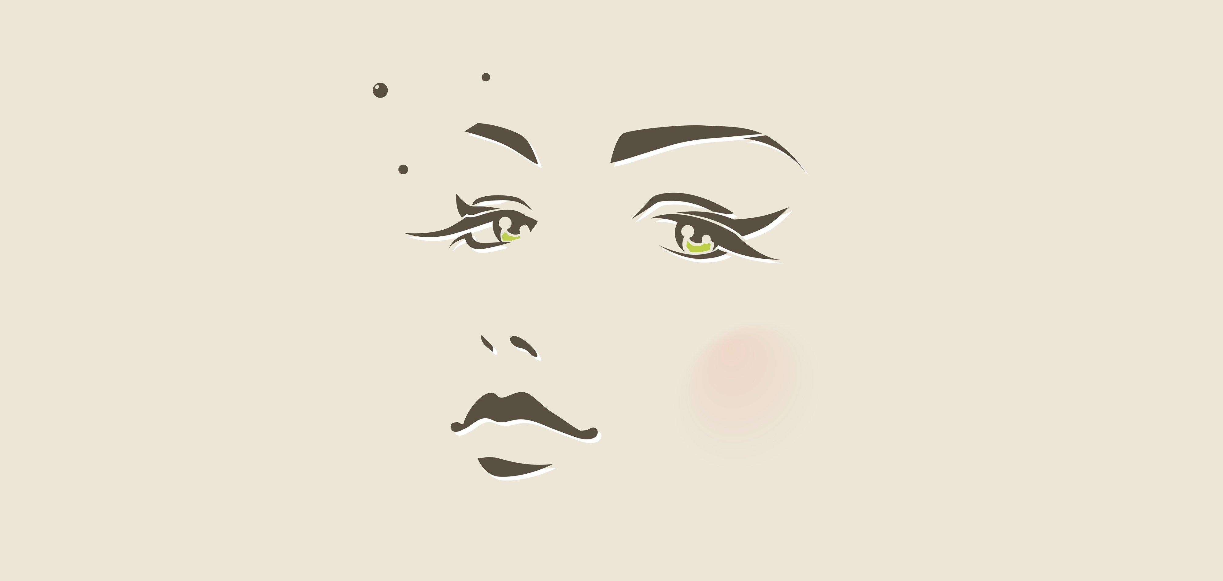 Art artwork artistic women woman girl girls female f for Minimal art face