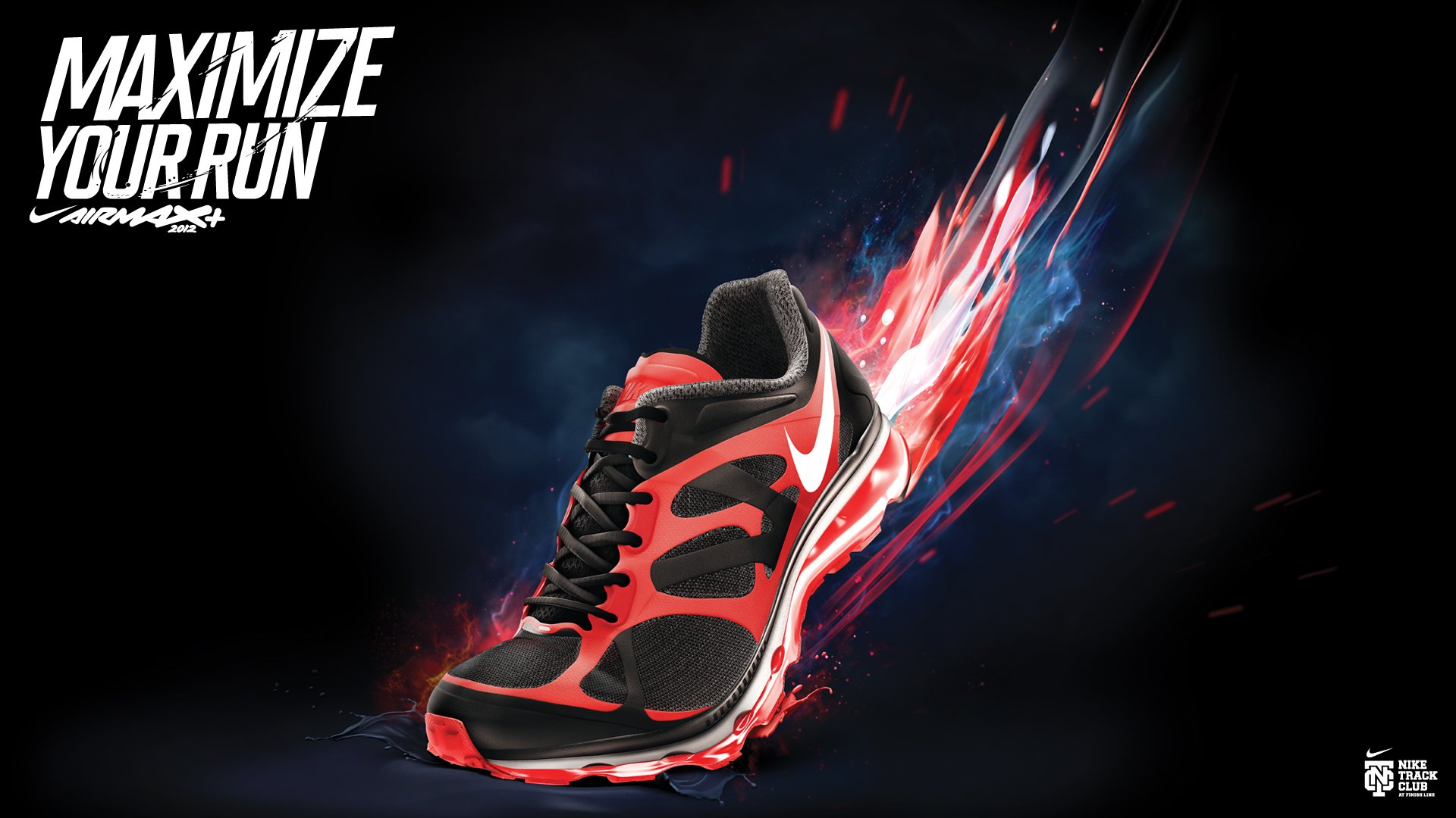 Sport Wallpaper Nike: NIKE Sports Shoes Product Logo Poster Advertising Products