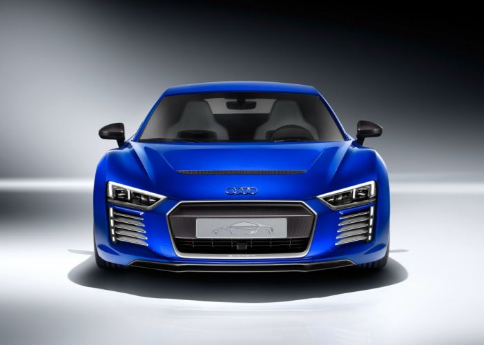 Audi-r8 e-tron piloted driving concept 2015 cars coupe blue wallpaper