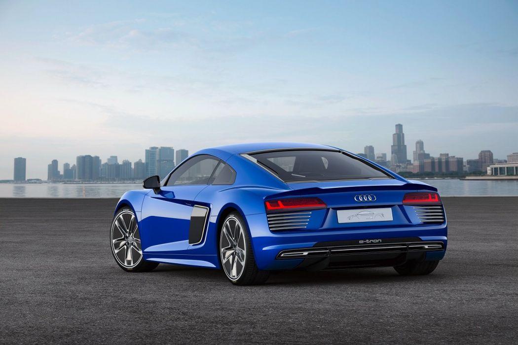 Audi-r8 e-tron piloted driving concept 2015 cars coupe blue wallpaper