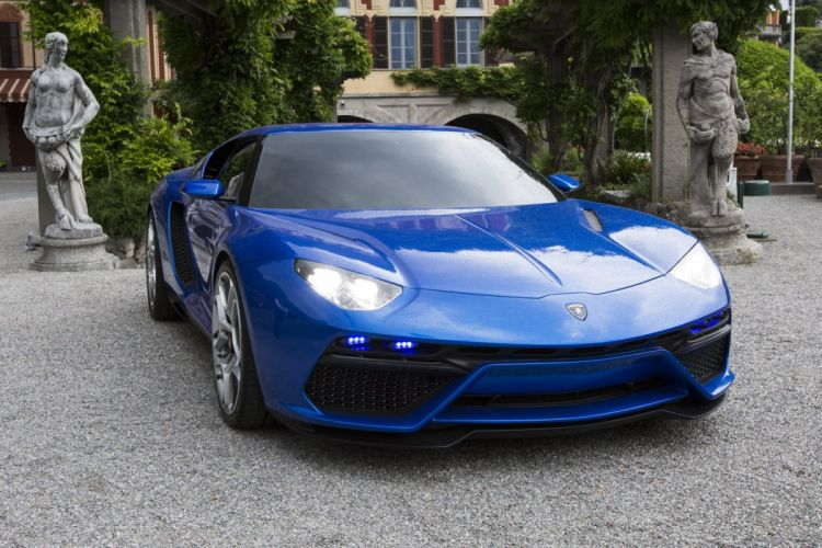 2014 Lamborghini Asterion LPI 910-4 cars supercars concept blue wallpaper