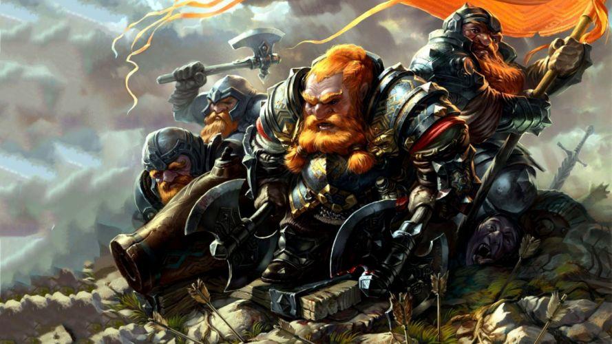 DWARF fantasy warrior art artwork f wallpaper