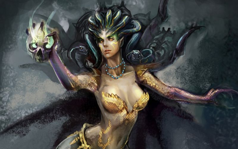 MEDUSA monster creature gods god art artwork d wallpaper