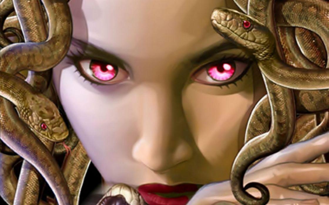 MEDUSA monster creature gods god art artwork d wallpaper