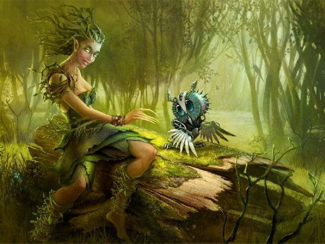art artwork fantasy magical forest original magic creature f wallpaper
