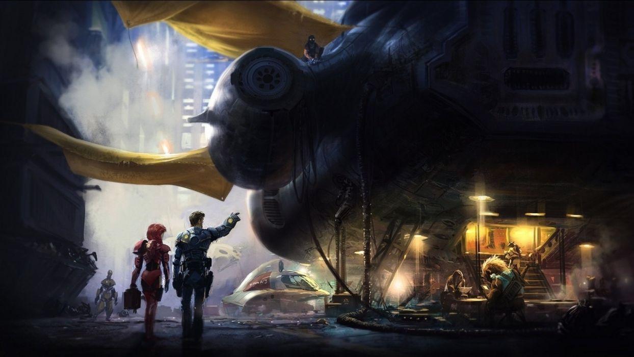 sci-fi art artwork futuristic science fiction adventure d wallpaper