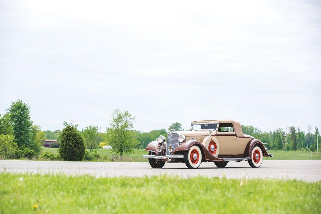 1934 Lincoln Model-KB Convertible Roadster Dietrich cars classic wallpaper