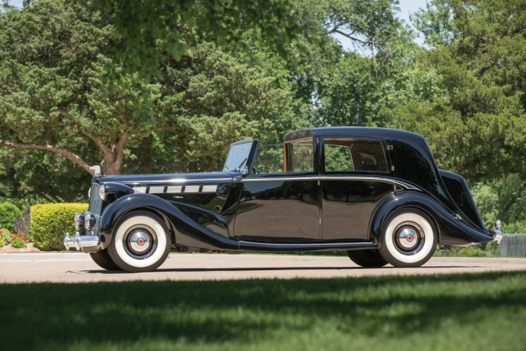 1938 Packard Super Eight Sedanca de-Ville Barker classic cars wallpaper