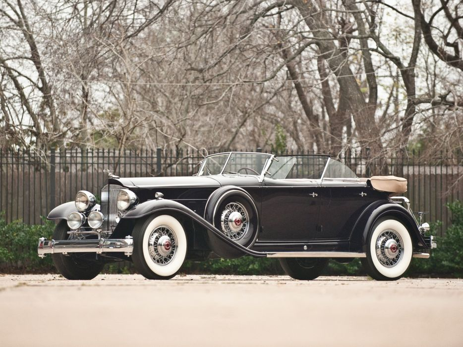 1932 Packard Individual Custom Twelve Sport Phaeton Dietrich classic cars wallpaper