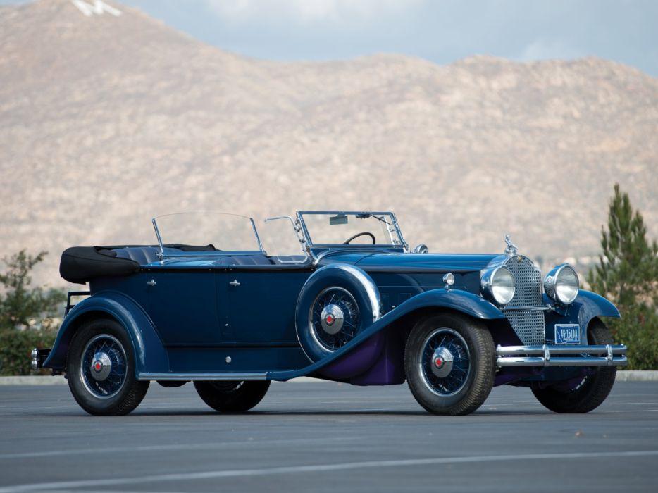 Packard Deluxe Eight Sport Phaeton cars classic convertible 1931 wallpaper