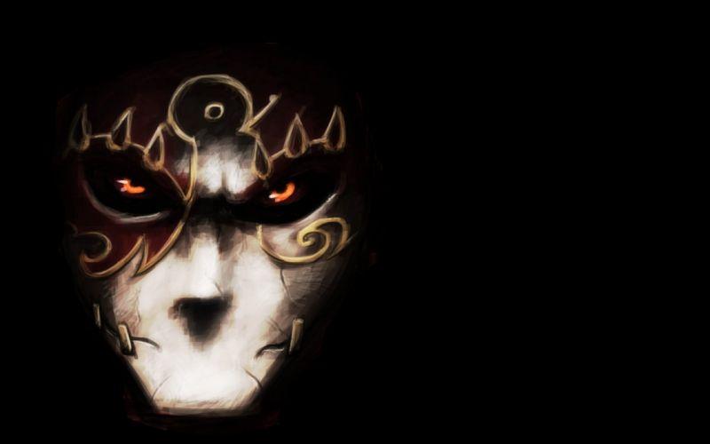 FACES - dark fable masks black wallpaper